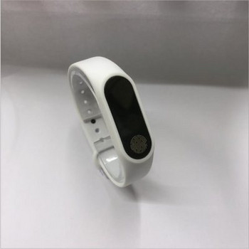 Силиконова каишка за фитнес гривни модел M2 - бял цвят