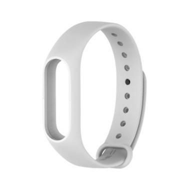 Силиконова каишка за фитнес гривни модел M3 - бял цвят