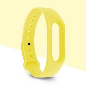 Силиконова каишка за фитнес гривни модел M3 - жълт цвят