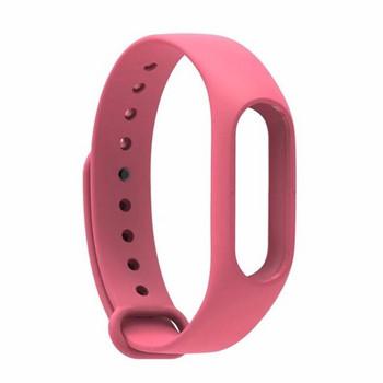 Силиконова каишка за фитнес гривни модел M3- розов цвят