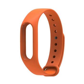 Силиконова каишка за фитнес гривни модел M2 - оранжев цвят