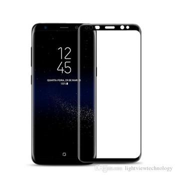 Стъклен протектор за Samsung S8 - Full glue черен