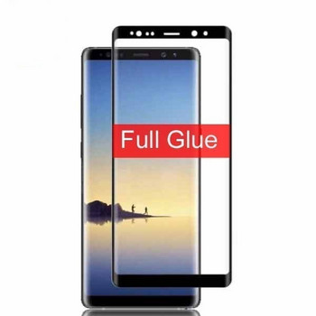 Стъклен протектор за Note 8 - Full glue черен