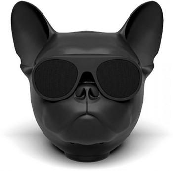 Преносима bluetooth колонка във формата на куче с AUX и USB порт и слот за TF/SD card - черен цвят