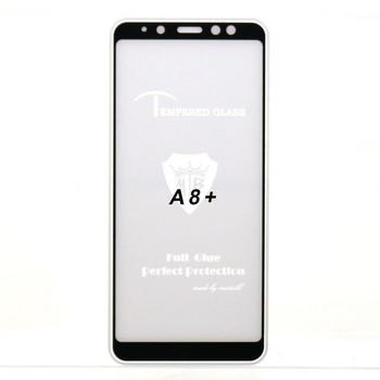 Стъклен протектор за Samsung A8 plus 2018 - 9D