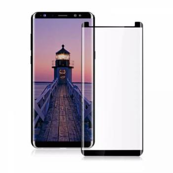Стъклен протектор за Samsung Note8 - Edge glue черен