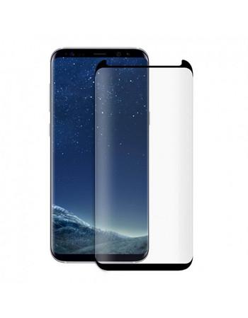 Стъклен протектор за Samsung S8 plus -Edge glue черен