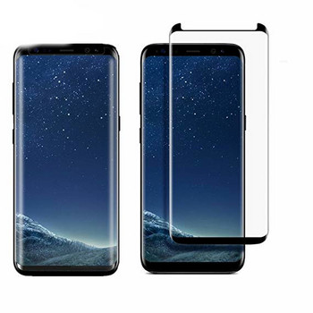 Стъклен протектор за Samsung S9 -Edge glue черен
