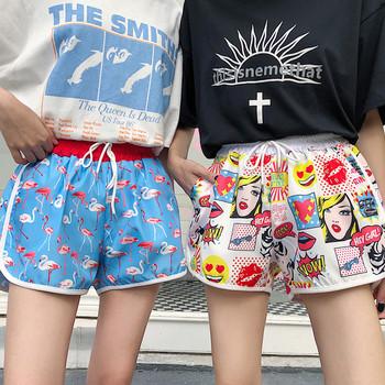 Дамски къси панталони в два цвята с различни апликации