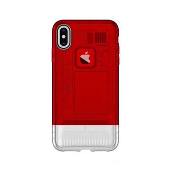 Силиконов калъф за iPhone X и iPhone XS - червен цвят