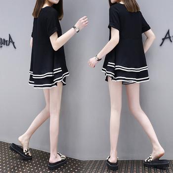 Casual γυναικείο σετ σε μαύρο και άσπρο χρώμα