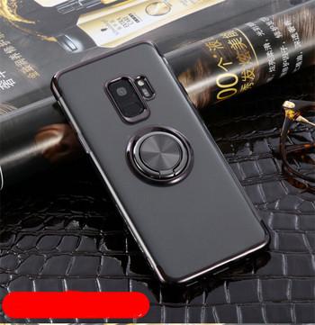 Силиконов калъф с пръстен за Samsung S9  в черен цвят