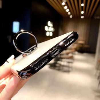 Силиконов калъф с пръстен за iPhone 7 и iPhone 8  в черен цвят