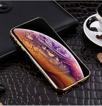 Силиконов калъф с пръстен за iPhone XR в златист цвят