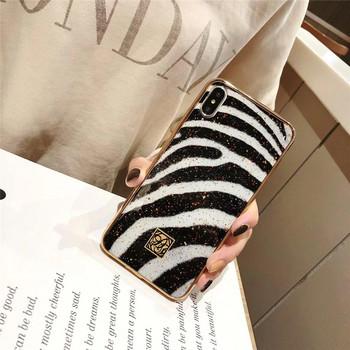 Силиконов калъф със шарка на зебра за iPhone 6 plus и iPhone 6S plus