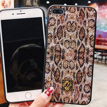 Силиконов калъф със змийски принт за iPhone 7 и iPhone 8