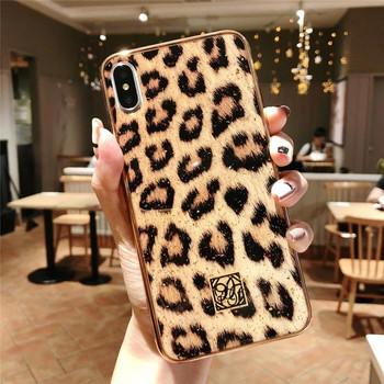 Силиконов калъф с леопардов  принт за iPhone XR