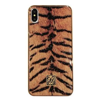 Силиконов калъф с тигров принт за iPhone XS Max