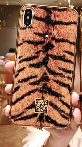 Силиконов калъф с тигров десен за Huawei Mate 20 Pro