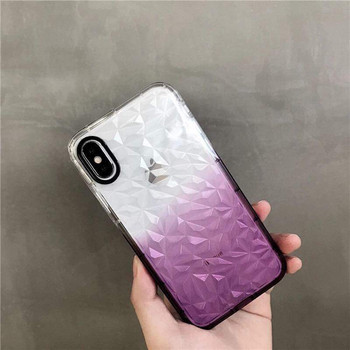 Силиконов калъф с преливащи се цветове за iPhone XR