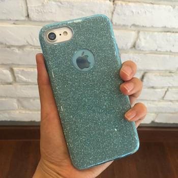 Силиконов калъф с лъскав ефект за iPhone 7 plus и iPhone 8 plus