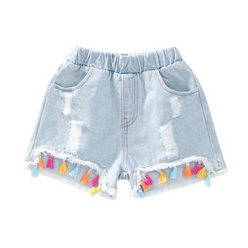 Детски модерни дънки с джобове-за момичета