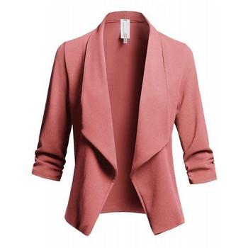Стилно дамско сако с 3/4 ръкави в няколко цвята