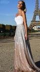 Γυναικείο μακρύ φόρεμα ευρύ σχέδιο σε ανοιχτό χρώμα