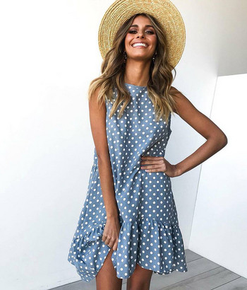 Ежедневна дамска  рокля широк модел в няколко цвята