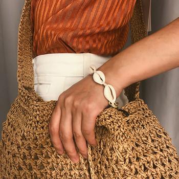 Ежедневна дамска гривна с миди в два цвята