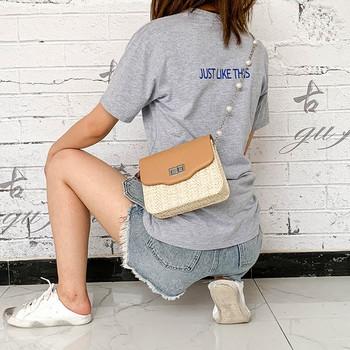 Модерна дамска чанта с метално закопчаване в три цвята