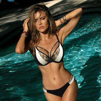 Нов модел дамски бански костюм от две части - три цвята