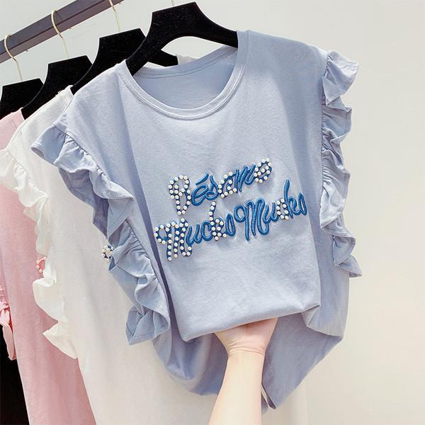 0feea5fa37e Дамска блуза с бродерия и перли в няколко цвята - Badu.bg - Светът в ръцете  ти
