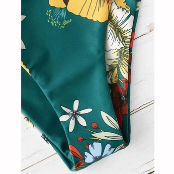 Дамски бански от две части с флорален десен в няколко цвята