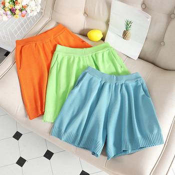 Модерни къси дамски панталони с висока талия в различни цветове
