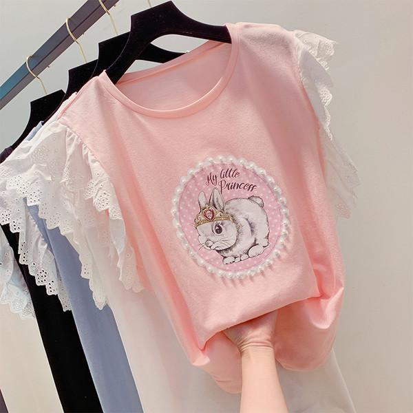0604cc62885 Модерна дамска блуза с дантела и декорация перли - Badu.bg - Светът в ръцете  ти