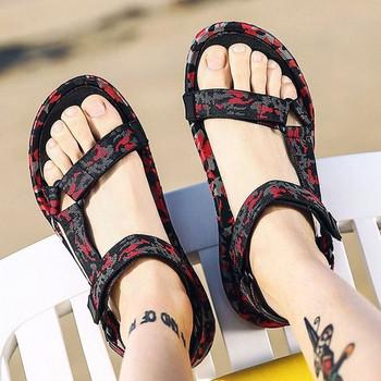 Ежедневни мъжки сандали в три цвята с камуфлажен десен