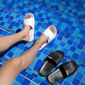 Ежедневни мъжки чехли подходящи за плаж в бял и черен цвят