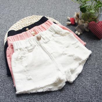 Детски къси панталони в три цвята за момичета