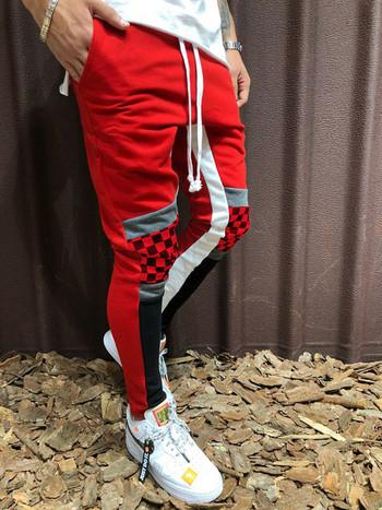 Спортно-ежедневни мъжки панталони с кант в няколко цвята