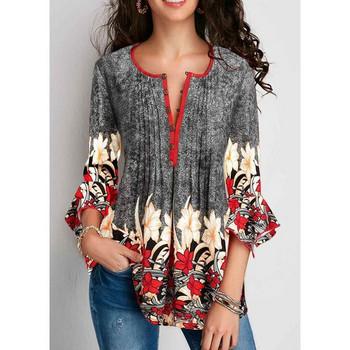 Дамска свежа лятна блуза в няколко цветови модела: виненочервен, черен, сив и син включително и големи размери