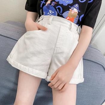 Детски модерен панталон в бял цвят-за момичета