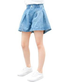 Детски къси дънки за момичета-широк модел