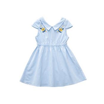 Актуална детска рокля в два цвята с яка