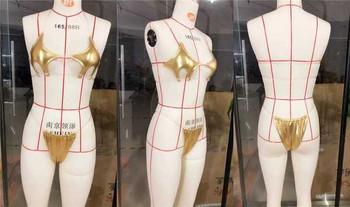 Нов модел бански костюм от две части с прозрачни части в няколко цвята
