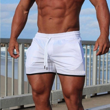 Мъжки плажни шорти с ластик в четири цвята