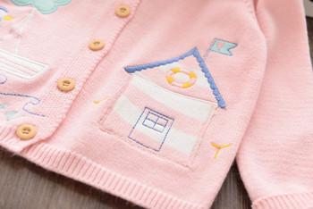 Ежедневна детска жилетка за момичета в розов цвят