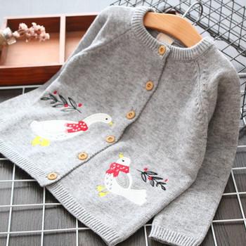 Ежедневна детска жилетка в сив цвят за момичета
