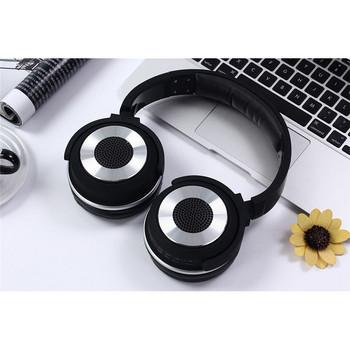 Bluetooth слушалки HYBRID SY-BT1611SP слушлки и спийкър 2 в 1 - TF/SD карта, FM радио, USB - черни със сребристо