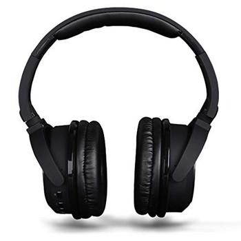 Bluetooth слушалки HYBRID SY-BT1611SP слушлки и спийкър 2 в 1 - TF/SD карта, FM радио, USB в  черен цвят